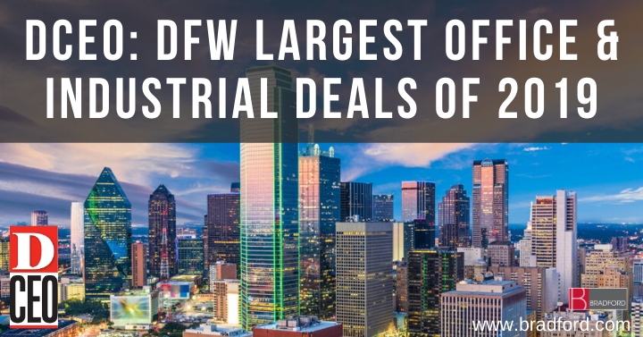 D CEO Largest Office and Industrial Deals of 2019